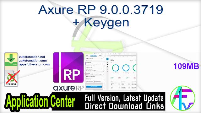 Axure RP 9.0.0.3719 + Keygen