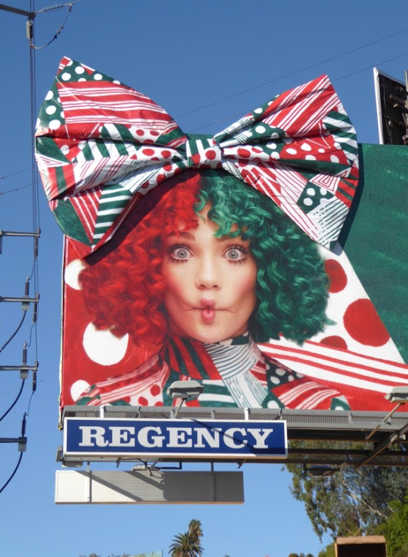 3D bow Christmas Sia Spotify billboard