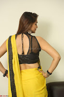 Cute Actress Ashwini in Yellow Saree Exclusive  052.JPG