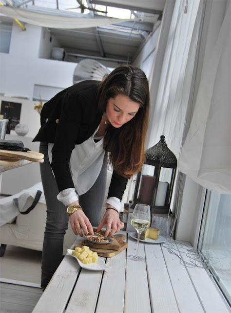 Denise Renee Schuster beim Aufbau | pastasciutta.de