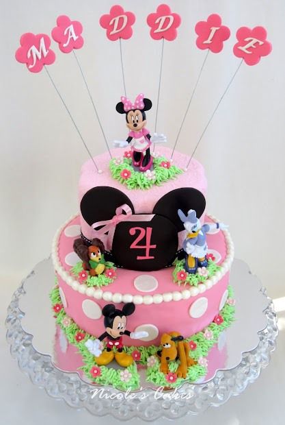 Confections Cakes & Creations Minnie Friends Cake