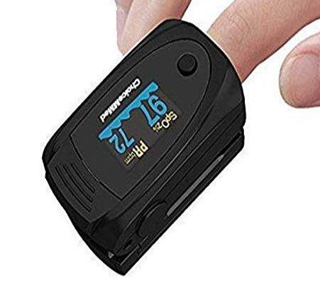 Choicemmed Fingertip Pulse Oximeter (White/Black)