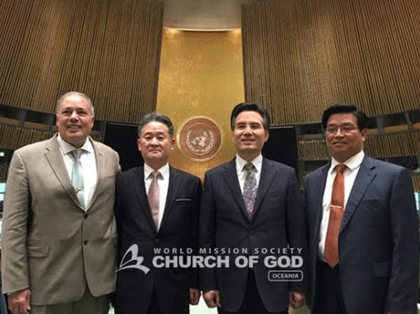 General Pastor Kim Joo Cheol makes a speech at UN conference