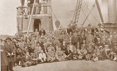 Hamburgo 1930 - Grupo de maestros que participaron en el Torneo de Naciones