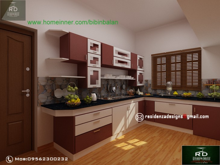 Kerala kitchen design by residenza designs thalore penting ayo di share for Kerala kitchen design pictures