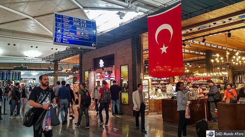 Aeroporto de Istambul  - Diário de Bordo: 3 dias em Roma