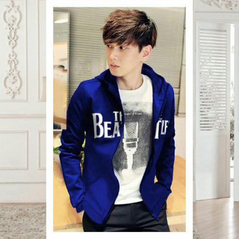 Jual Online Men Jacket The Beatles Blue Jakarta Bahan Babytery Terbaru