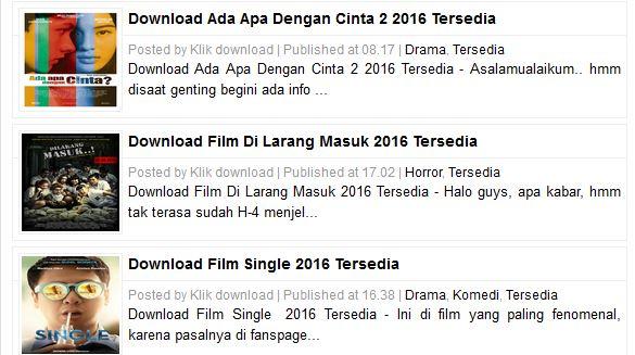 5 Situs download film bioskop indonesia terbaru 2017