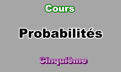 Cours de Probabilités 5eme en PDF