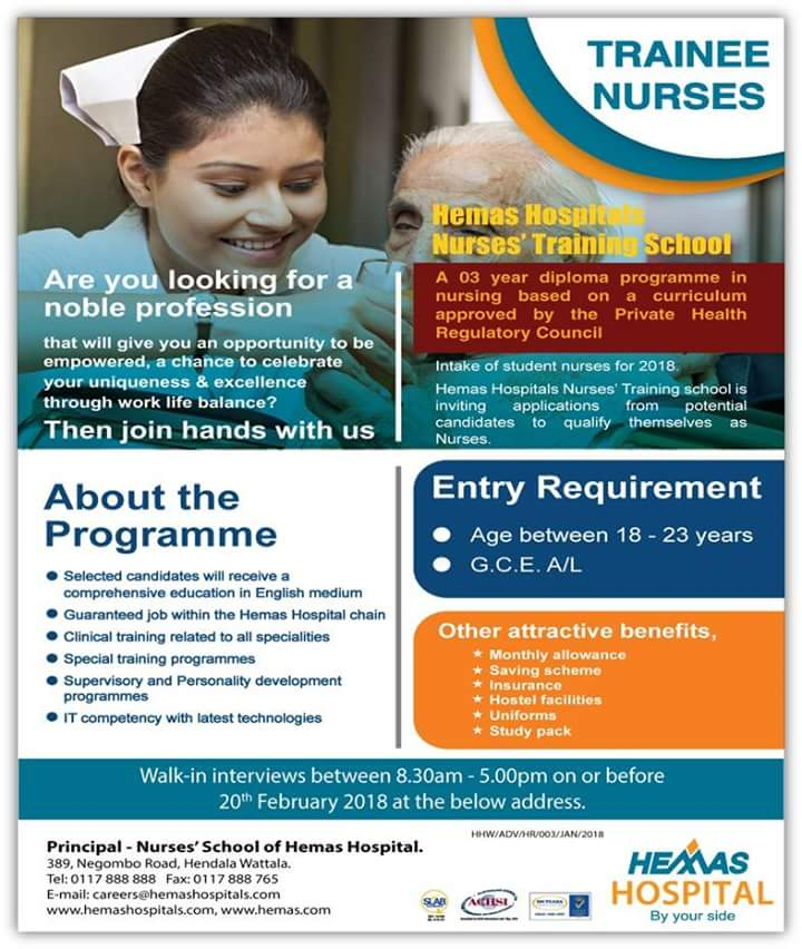 Trainee Nurses At Hemas Hospitals