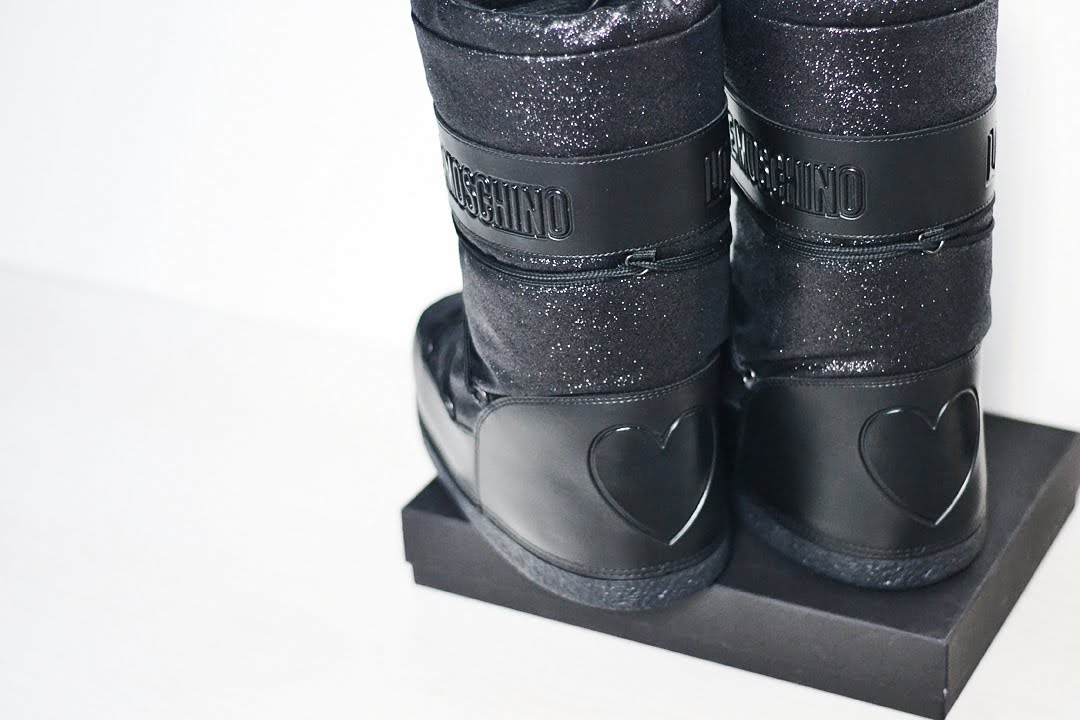 Love moschino, snow boots, moon boots, designer, black, inspiration, winter, belgian fashion blogger, mode blogger belgie