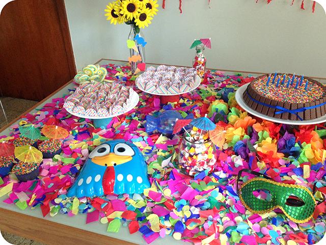 Decoração : Festa Carnaval - Mesa