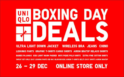 Uniqlo Malaysia Online Store Boxing Day Sale Discount Offer Deals