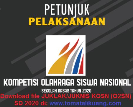 File Juklak / Juknis O2SN (KOSN) 2020 SD (Sekolah Dasar) PDF