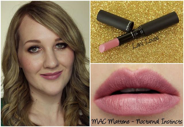 MAC Nocturnal Instincts Mattene lipstick swatch