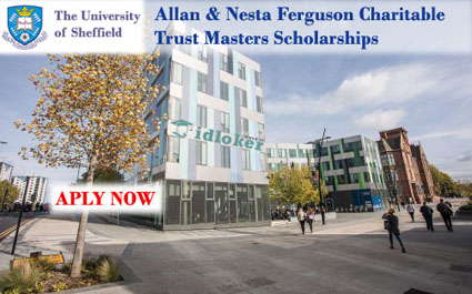 Beasiswa S2 Full Allan & Nesta Ferguson Charitable Trust Masters Scholarships University of Sheffield
