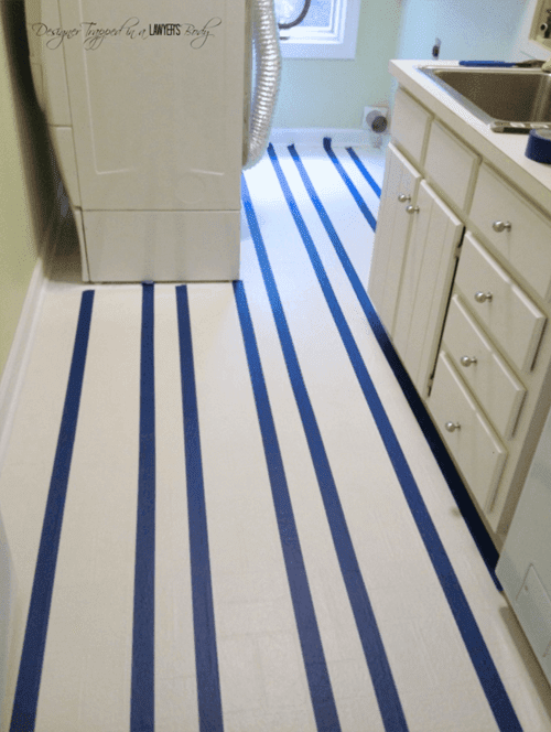 How to Paint Ugly Vinyl Floors