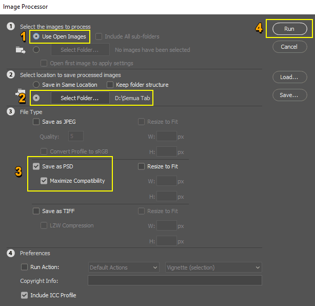 Cara menyimpan semua tab Photoshop ke format PSD secara otomatis