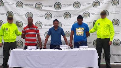 Tres capturados  por homicidio tentado y porte ilegal de arma de fuego