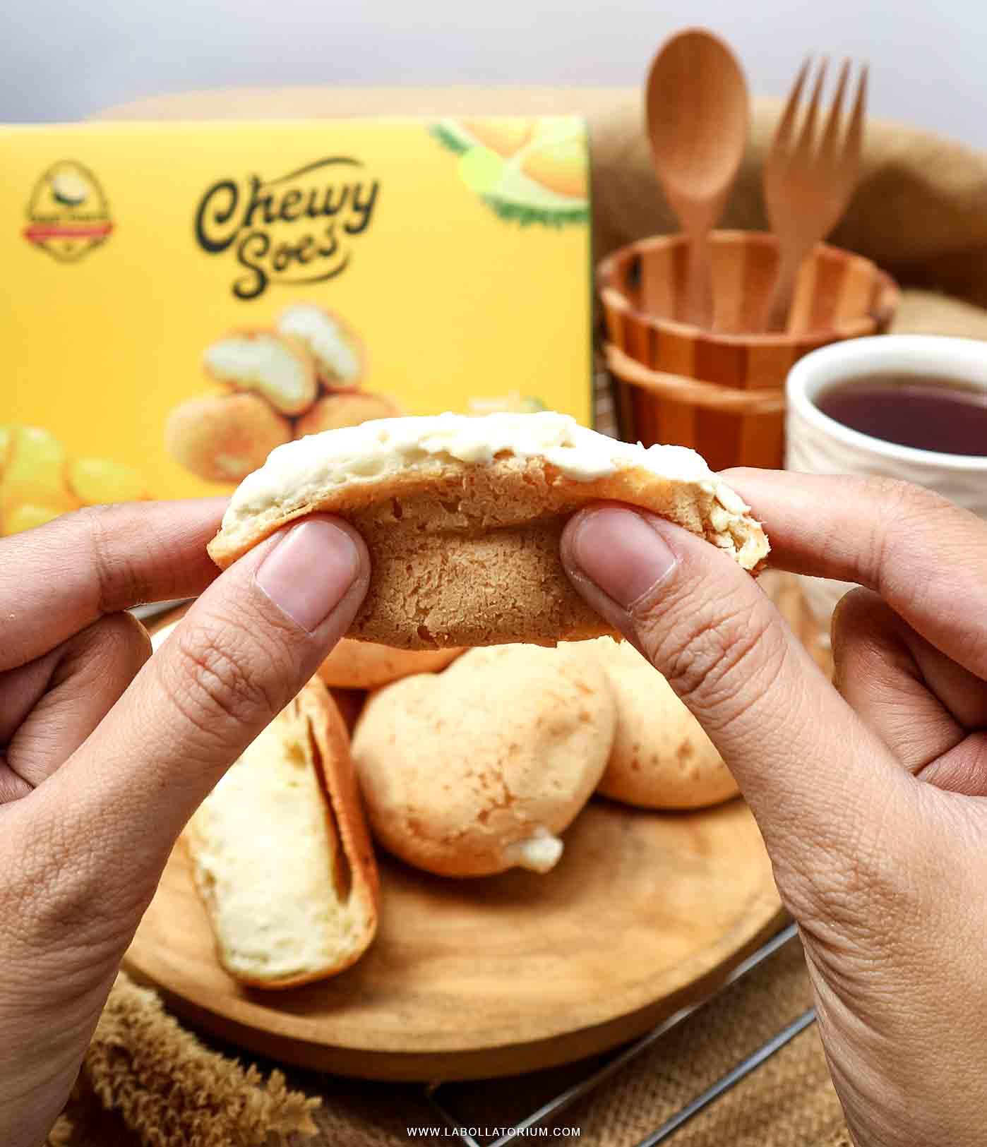 Durian Chewy Soes Choux - Menu Terlaris Belah Doeren Penganan Durian Hits Take Durian To The Next Level