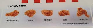 Potongan Ayam McD Paha Bawah ,Paha Atas ,Keel ,Rib ,Thigh