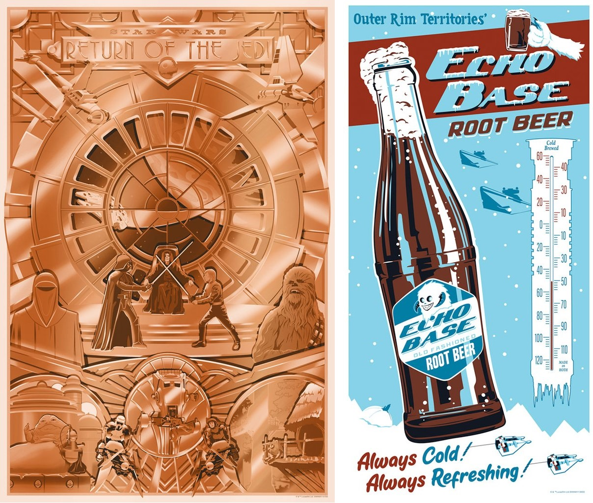 4a55a301 San Diego Comic-Con 2019 Exclusive Star Wars Screen Prints by Steve Thomas  x Dark