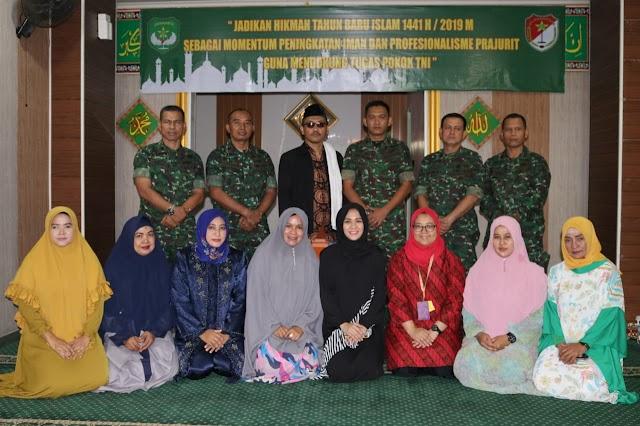 Prajurit dan PNS Kodim 0503/JB memperingati Tahun Baru Islam 1441 Hijriah
