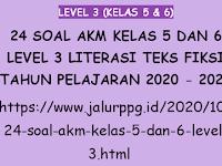 24 Soal AKM Kelas 5 dan 6 Level 3 Literasi Teks Fiksi Tahun Pelajaran 2020 - 2021