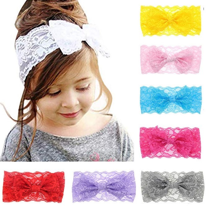 AMAZON 0 50% OFF Baby Headbands Toddler Elastic Hairbows Cute Infant Girls Headwrap-8Pcs