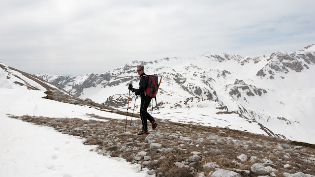 Da colle dell'Orso verso punta Trento