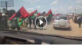 Biafra News Today: Thousands of Biafrans Surround Nnamdi Kanu's House. (Watch Video)