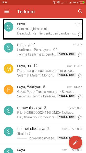 cara mengirim email lewat hp oppo