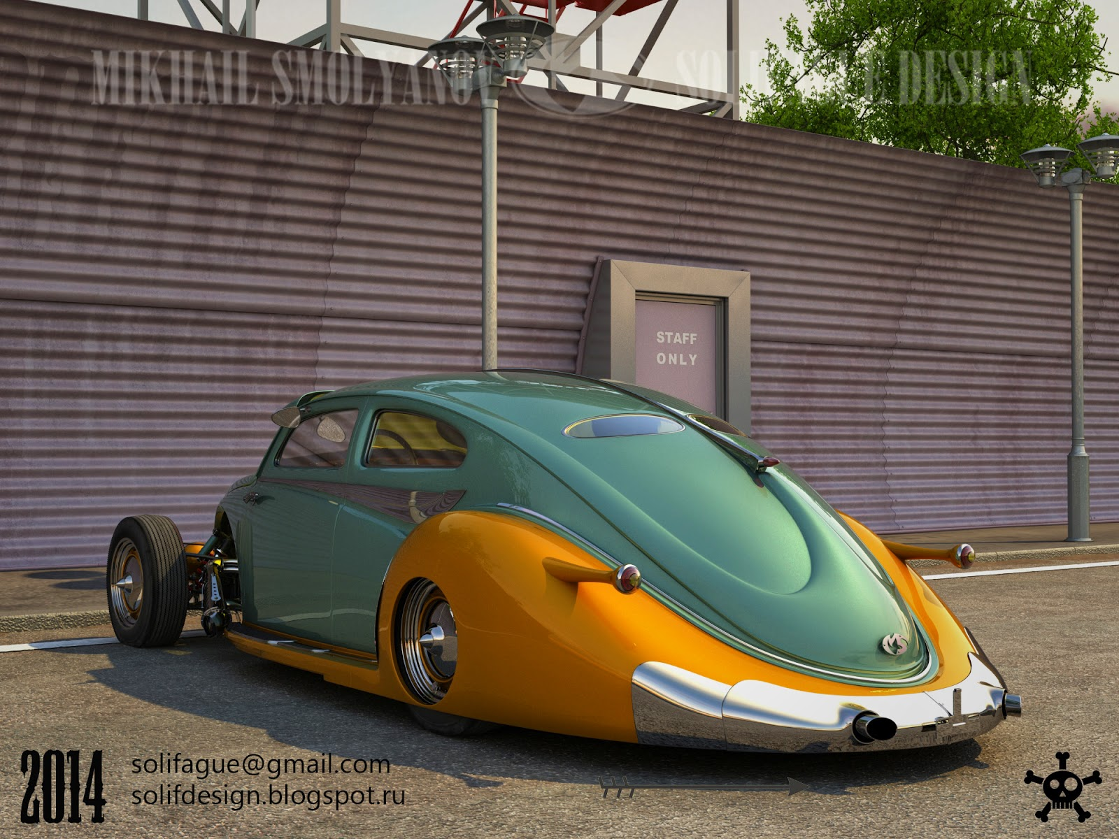Who Designed The Vw Beetle >> Solifague Design: VW Beetle Custom.