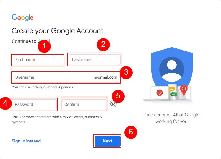 Naya gmail account kiase banate hain?