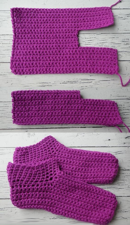 Easy peasy adult crochet slippers - Free Pattern