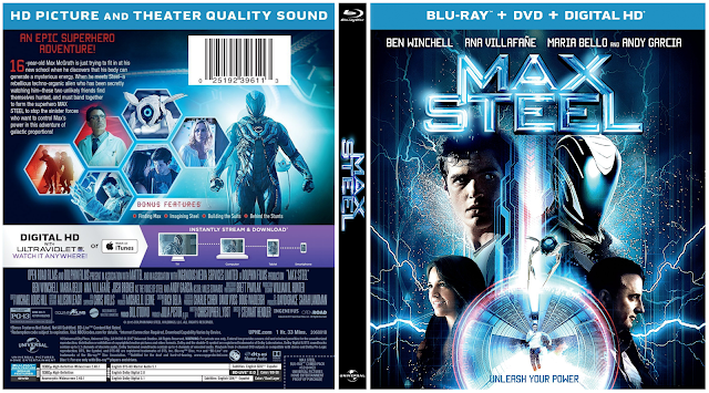 Capa Bluray + DVD Max Steel