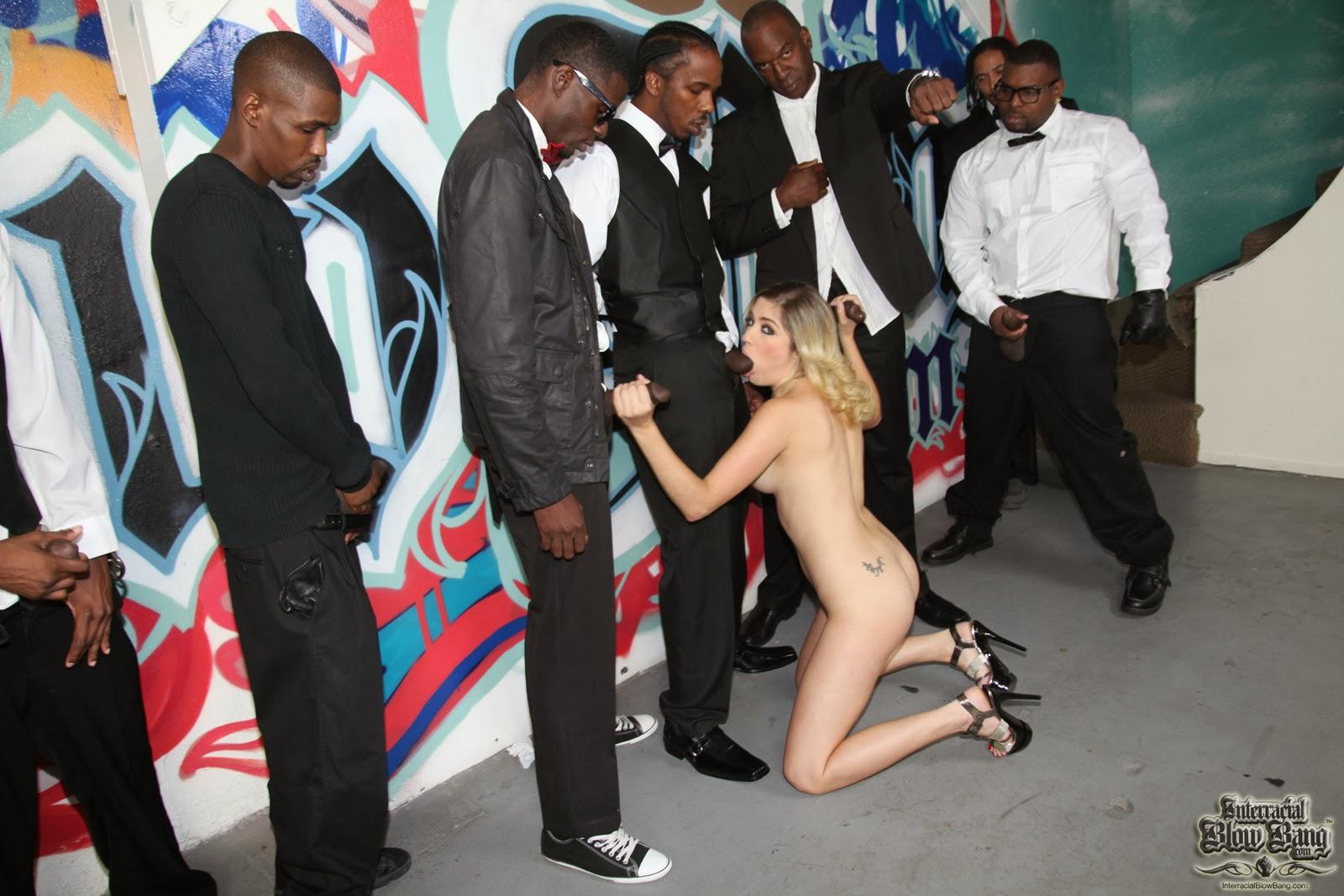 niggas gangbang sexy white girls