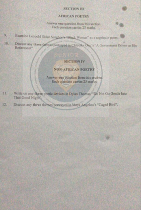 2021 NECO Literature in English Obj & Theory/Essay questions and answers is Out (Drama poetry)