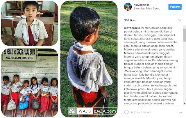 Kasihan! Para Siswa SD Ini Pakaiannya Lusuh & Kotor, Bahkan Sampai Robek