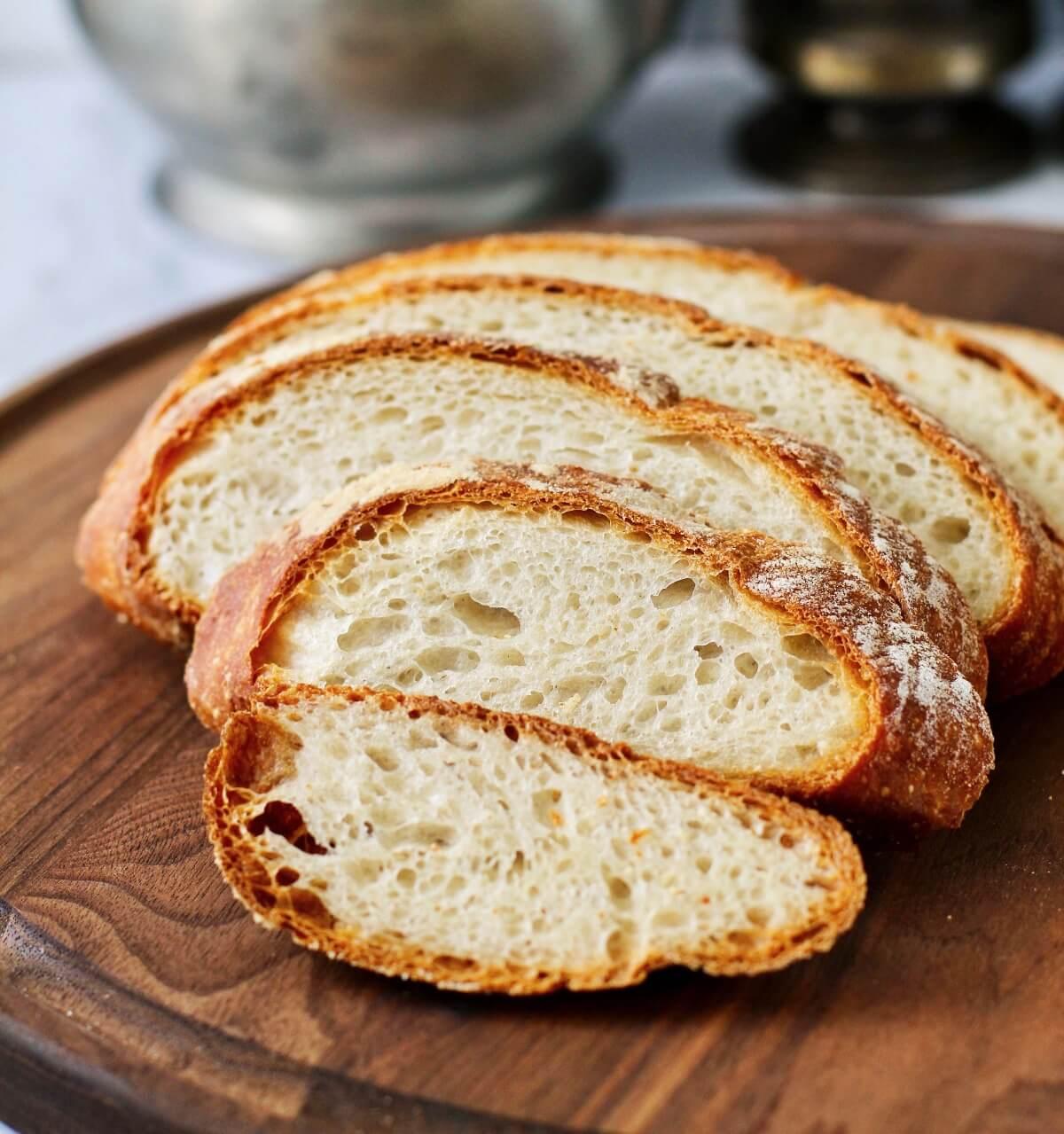 Basic Sourdough Bread for Beginners slices