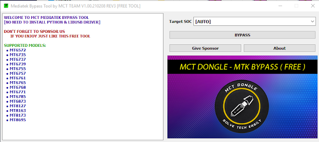 MCT MediaTek Bypass Tool V3 Release Free Download  Added More CPU  Bug's Fix