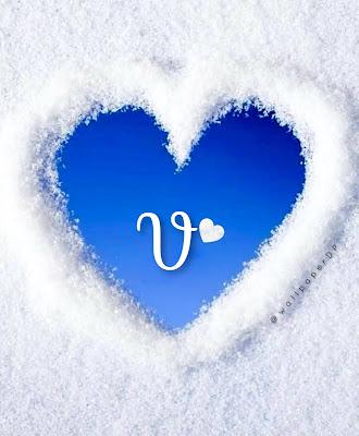Unique blue sky with white snow alphabet Letter Dp Pics