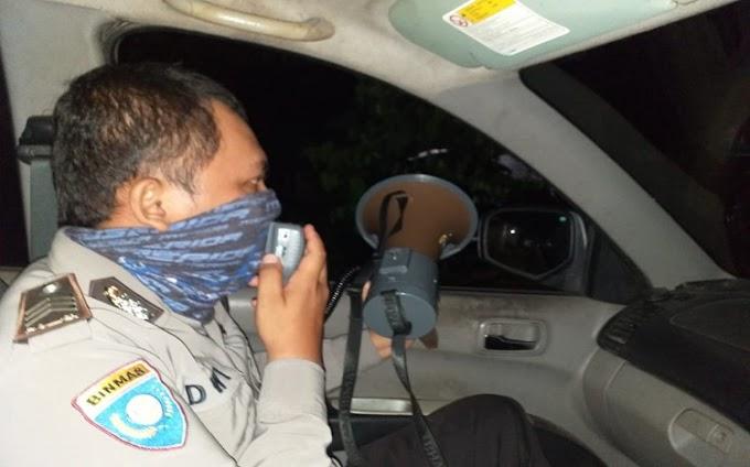 Cegah Penyebaran Covid-19, Jajaran Polsek Cimanuk Gencar Patroli Malam