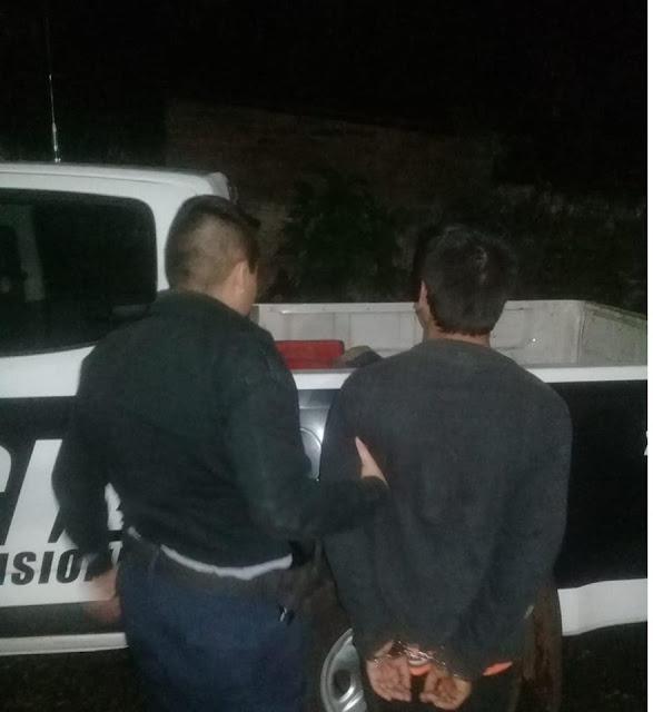 """GARUPÁ :Capturaron a """"Pajarito"""" prófugo de la justicia cuando se llevaba objetos de una escuela"""