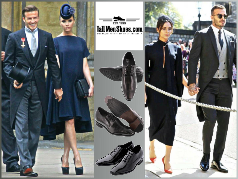 David Beckham usando zapatos de alza