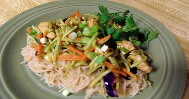 Asian Peanut Noodles With Chick'n Recipe