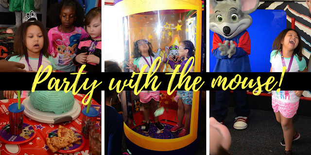 Birthday Party with the Main Mouse, Chuck E. Cheese + free printable LOL Doll invite