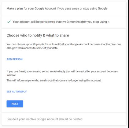 بعض الإعدادات لحذف حساب جوجل