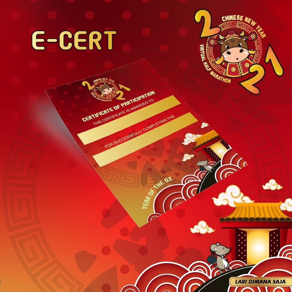 e-Cert - Chinese New Year Virtual Half Marathon • 2021