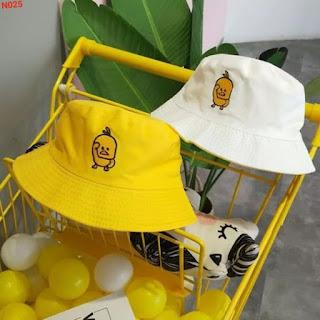 Nón Bucket Bánh Bèo Thêu Hình